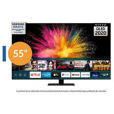 "QLED Samsung Q5580T /  55"" / Ultra Hd 4k / Smart Tv"