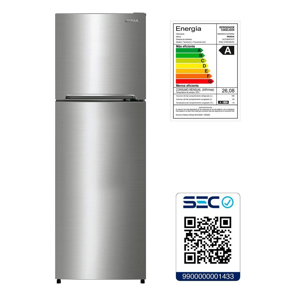 Refrigerador Winia No Frost, Top Mount Rge-2700 249 Litros image number 8.0