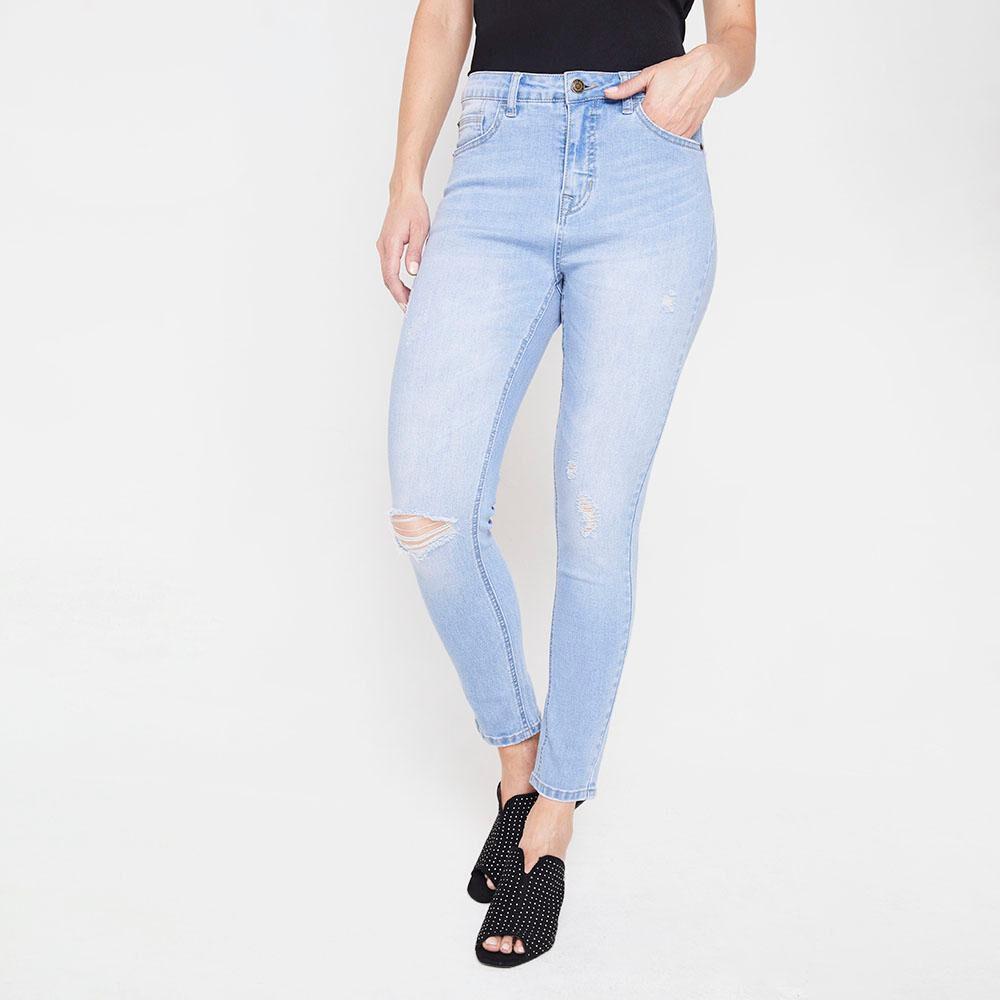 Jeans Skinny Roturas Mujer Kimera image number 0.0