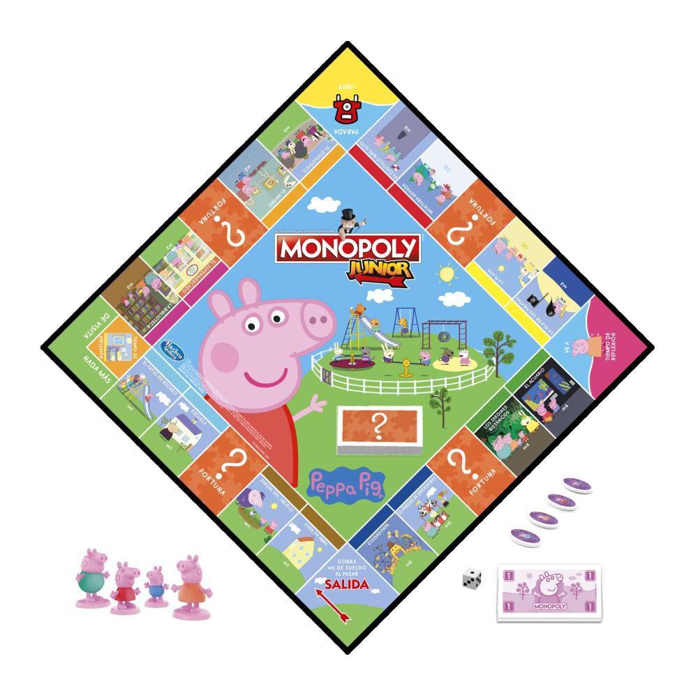 Juegos Infantiles Monopoly Junior Peppa Pig image number 1.0