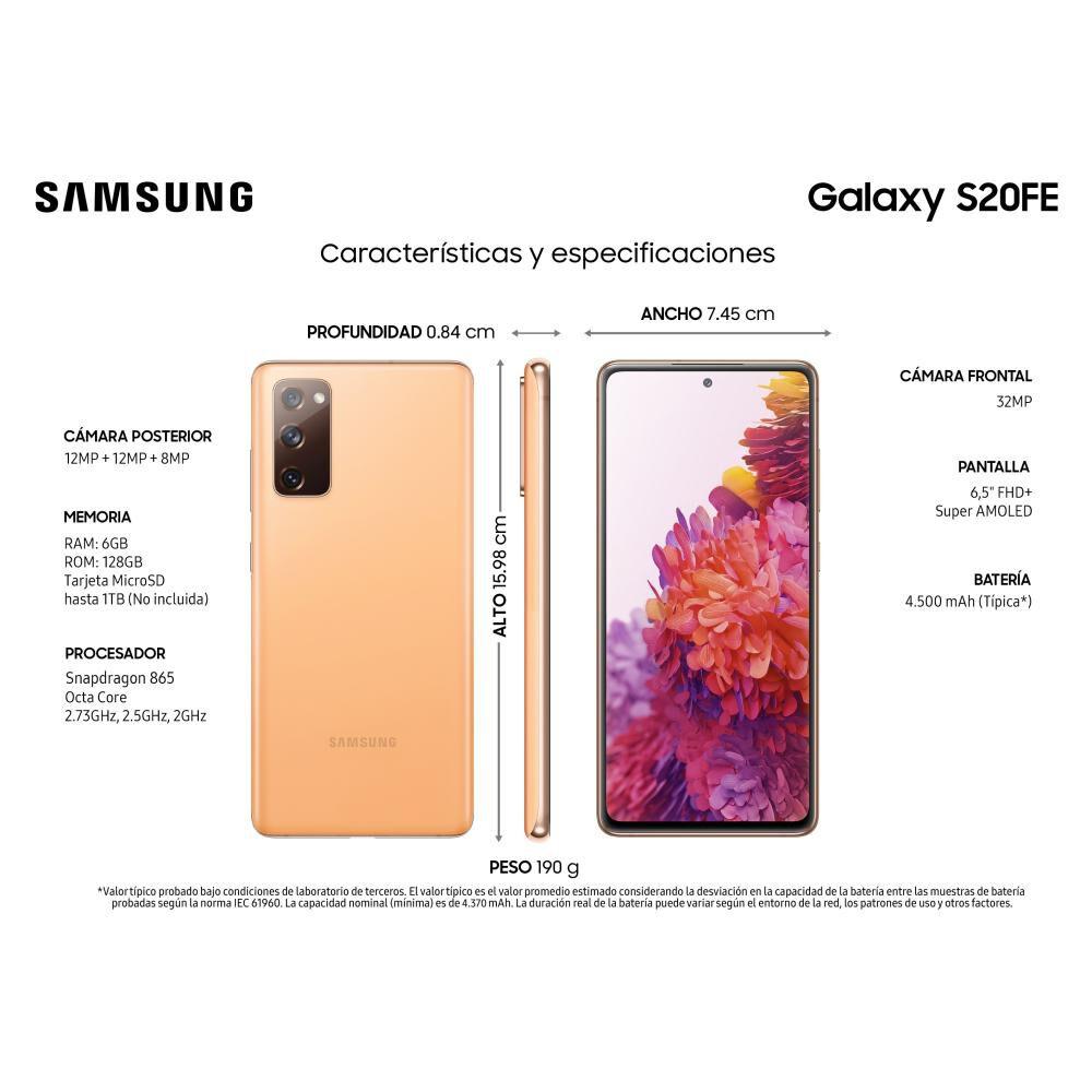 Smartphone Samsung S20fe Cloud Orange / 128 Gb / Liberado image number 2.0