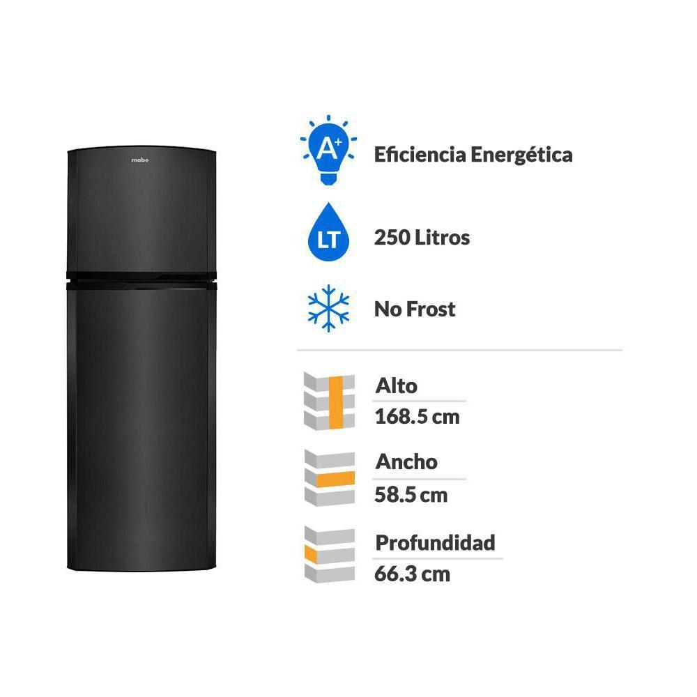 Refrigerador Top Freezer Mabe RMA250PHUG / No Frost / 250 Litros image number 1.0
