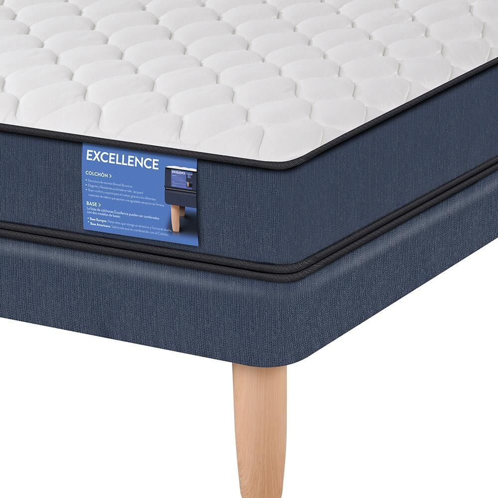 Cama Europea Cic Excellence / 1.5 Plazas / Base Normal image number 2.0