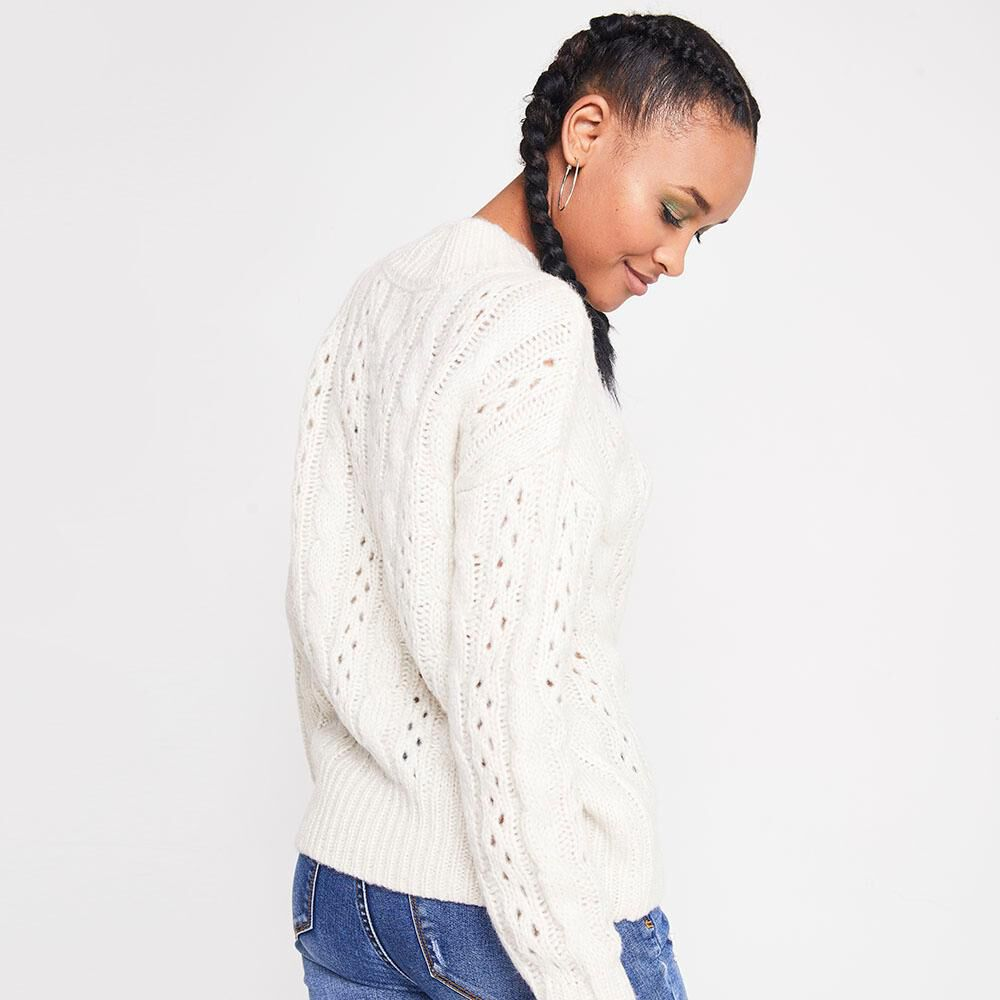 Sweater Trenzado Tejido Mujer Rolly Go image number 2.0