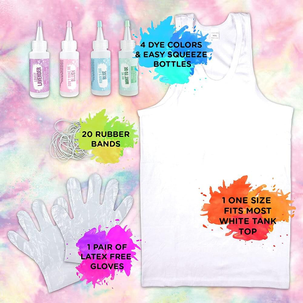 Kit De Teñido Fashions Angels Tie-dye Pastel Tank Top Kit image number 2.0