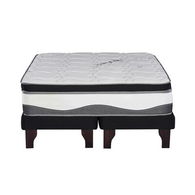 Cama Europea Flex Máximo Carbono / King / Base Dividida