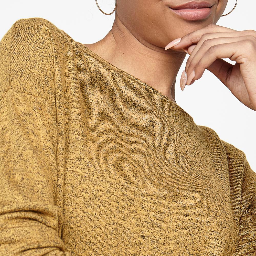 Sweater Jaspeado Largo Mujer Rolly Go image number 4.0