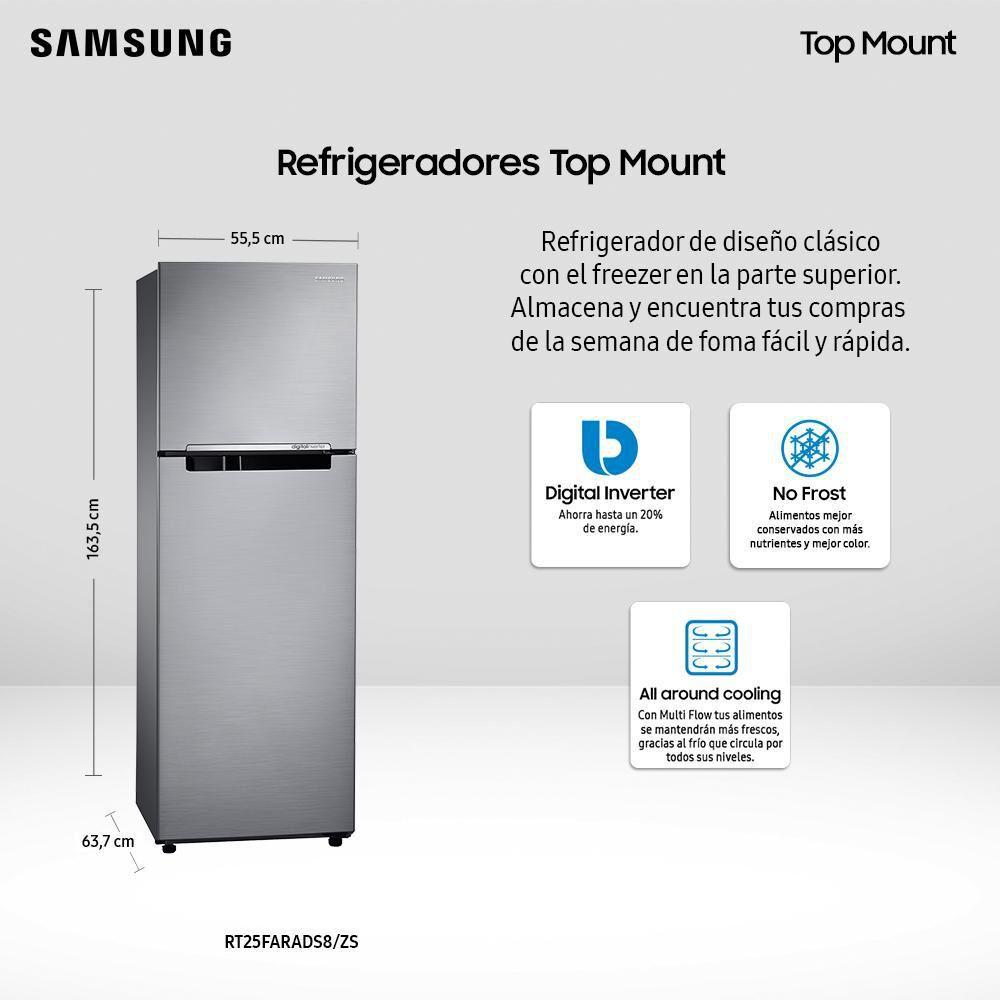 Refrigerador Top Freezer Samsung RT25FARADS8/ZS / No Frost / 255 Litros image number 3.0