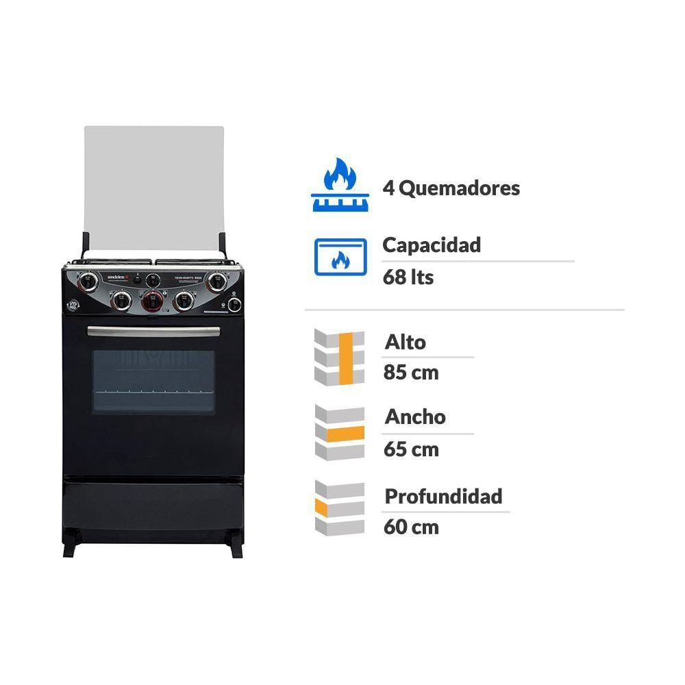 Cocina Síndelen NOVA AVANT CH-9500NG / 4 Quemadores image number 1.0