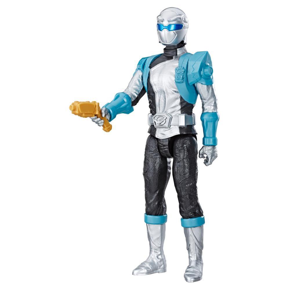 Figura De Acción Power Rangers Bmr Silver Ranger image number 1.0
