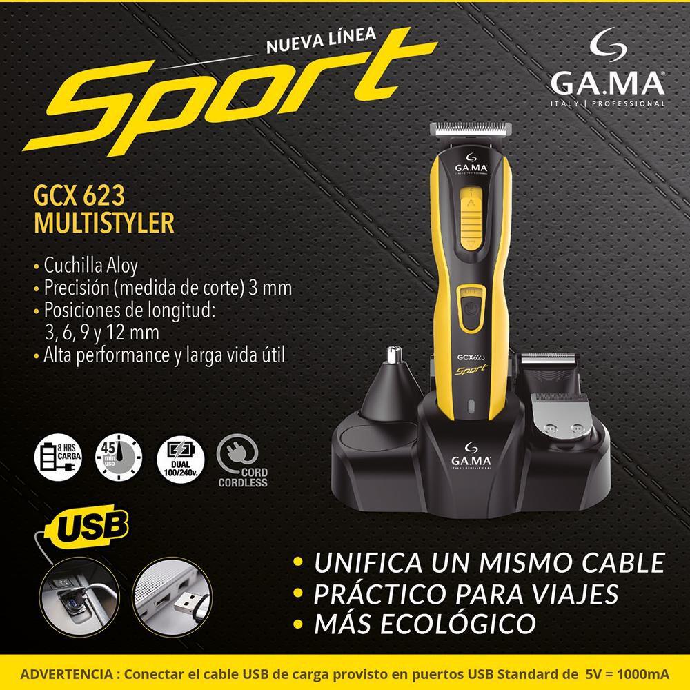 Corta Pelo Gama Multistyler Gcx623 Sport Usb image number 3.0