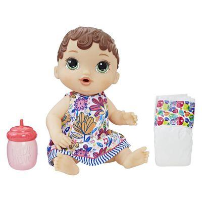Muñeca Baby Alive Bebé Sorbitos Cabello Castaño