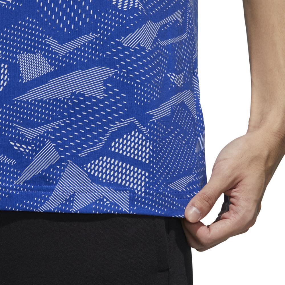 Polera Hombre Adidas Essentials Allover Print image number 6.0