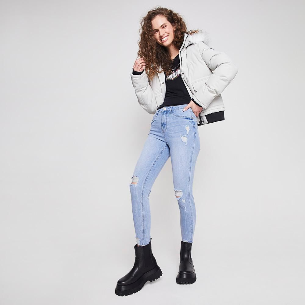 Jeans Mujer Tiro Alto Push Up Super Skinny Freedom image number 1.0
