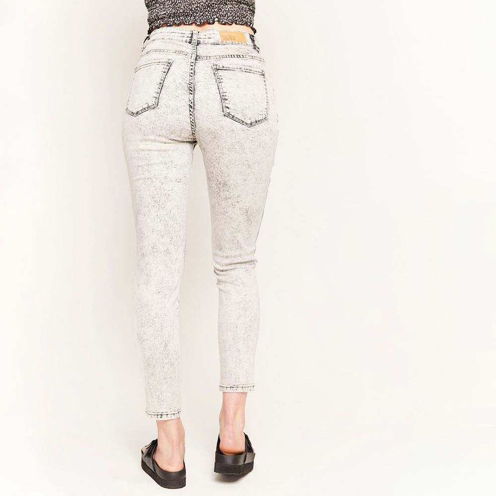 Jeans Botones Tiro Alto Super Skinny Mujer Freedom image number 2.0