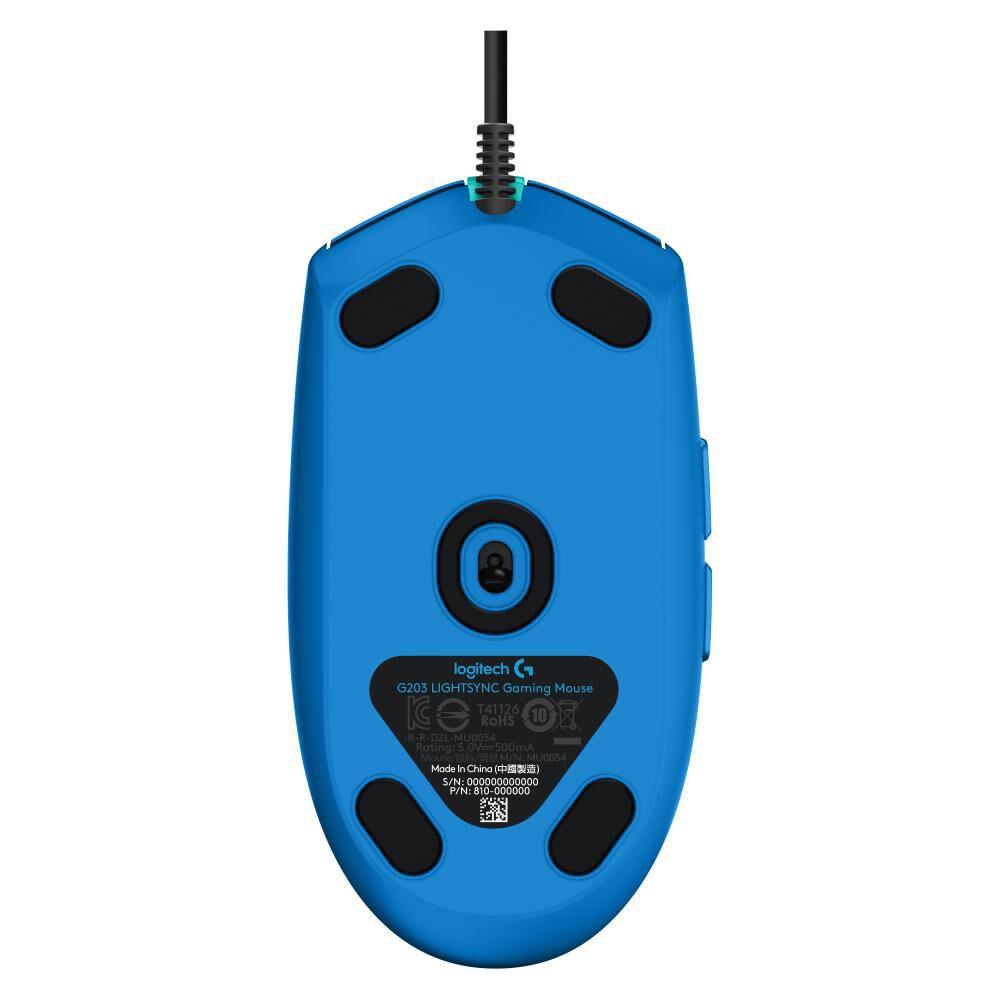 Mouse Gamer Logitech G203 Blue image number 3.0