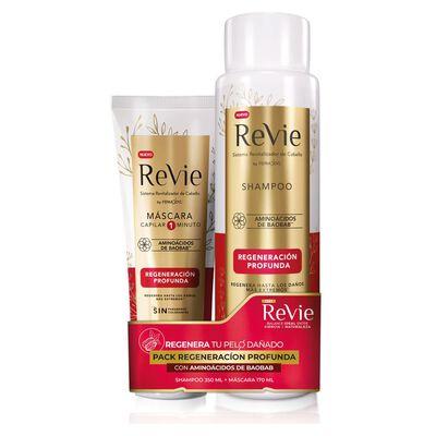 Pack Shampoo + Máscara Revie Regeneracion Profunda