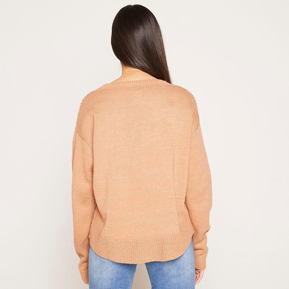Sweater Lurex Regular Fit Cuello Redondo Mujer Freedom image number 2.0