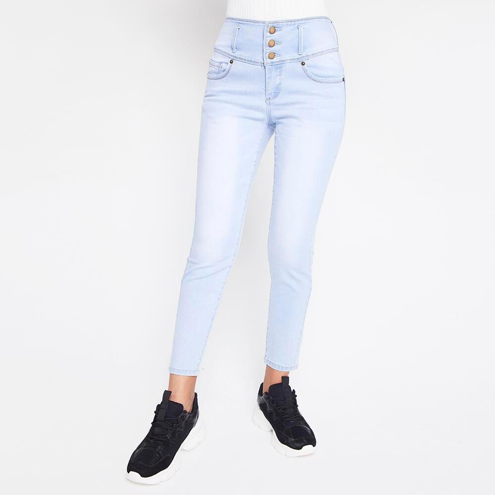 Jeans Mujer Tiro Alto Skinny almohadillas Rolly go image number 0.0