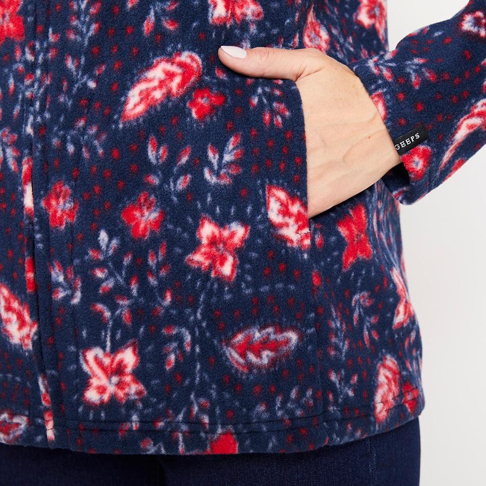 Poleron Polar Estampado Cuello Alto Mujer Geeps image number 4.0