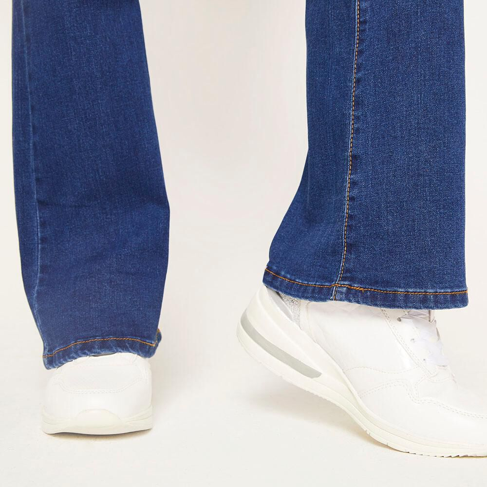 Jeans Tiro Medio Flare Mujer Geeps image number 4.0