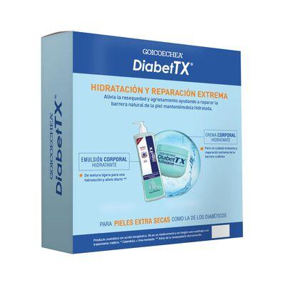 Set De Tratamiento Diabet Tx Plus Urea 10% X 250g + Diabet Tx Crema Para Manos  Codos X 50 Ml