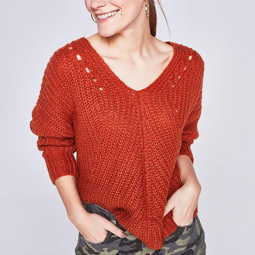 Sweater Detalles Calados Mujer Freedom image number 0.0
