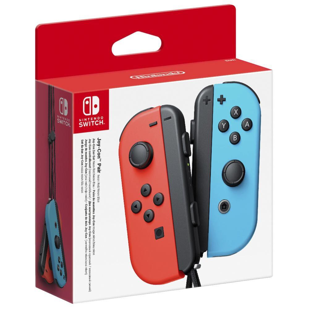 Nintendo Joy-con Pair - Neon Red / Blue image number 1.0
