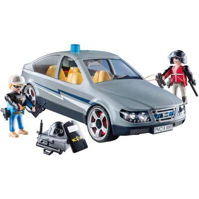 Figura De Acción Playmobil Coche Civil De Las Fuerzas Especiales