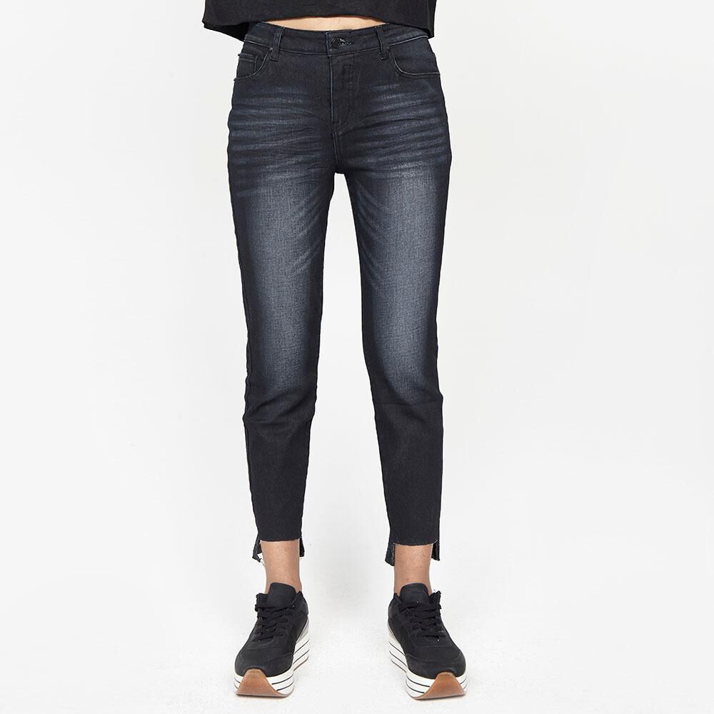 Jeans Mujer Tiro Medio Recto Crop Rolly go image number 0.0