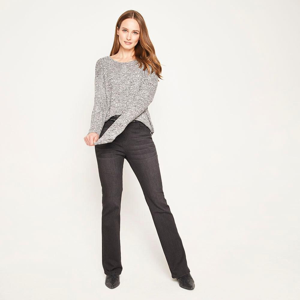 Sweater Melange Canuton Regular Fit Cuello Redondo Mujer Geeps image number 1.0
