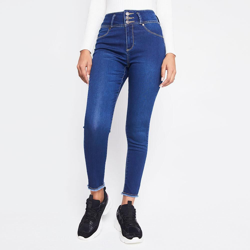 Jeans Mujer Tiro Alto Skinny Push up Rolly go image number 0.0