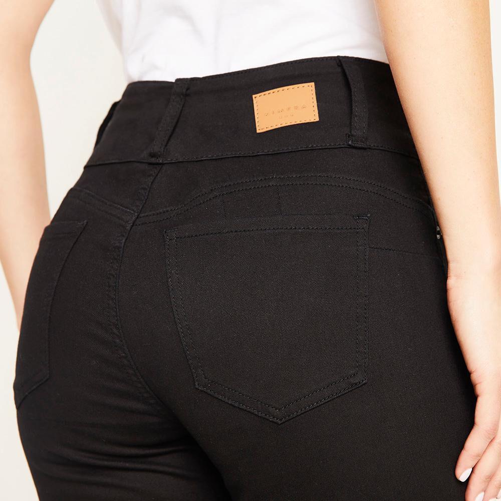 Jeans Color Tiro Alto Skinny Push Up Con Roturas Mujer Kimera image number 4.0