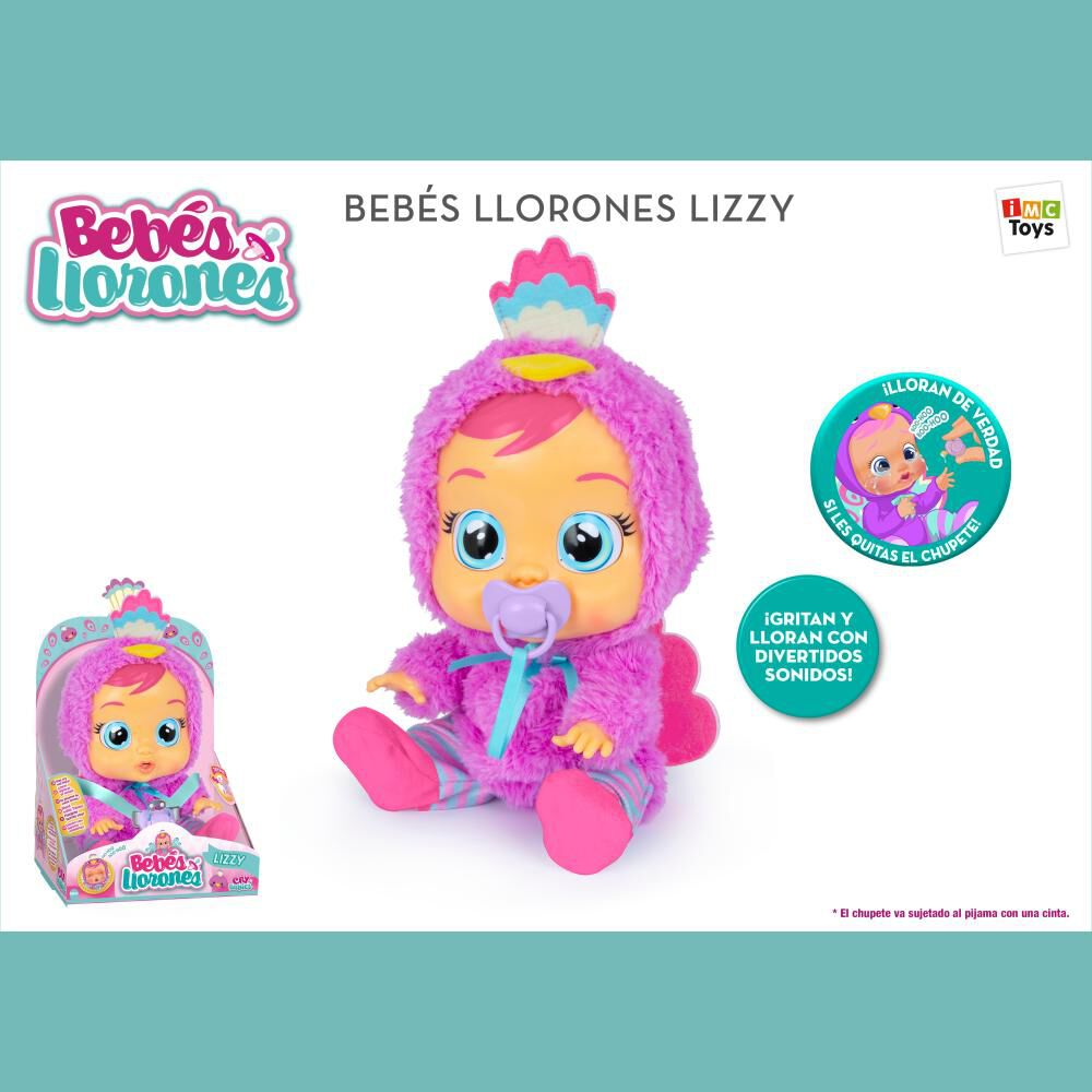 Muñeca Cry Babies Lizzy image number 2.0