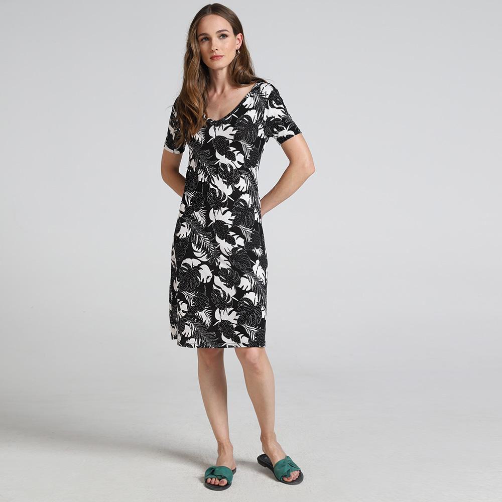 Vestido Basico Estampado Mujer Geeps image number 1.0