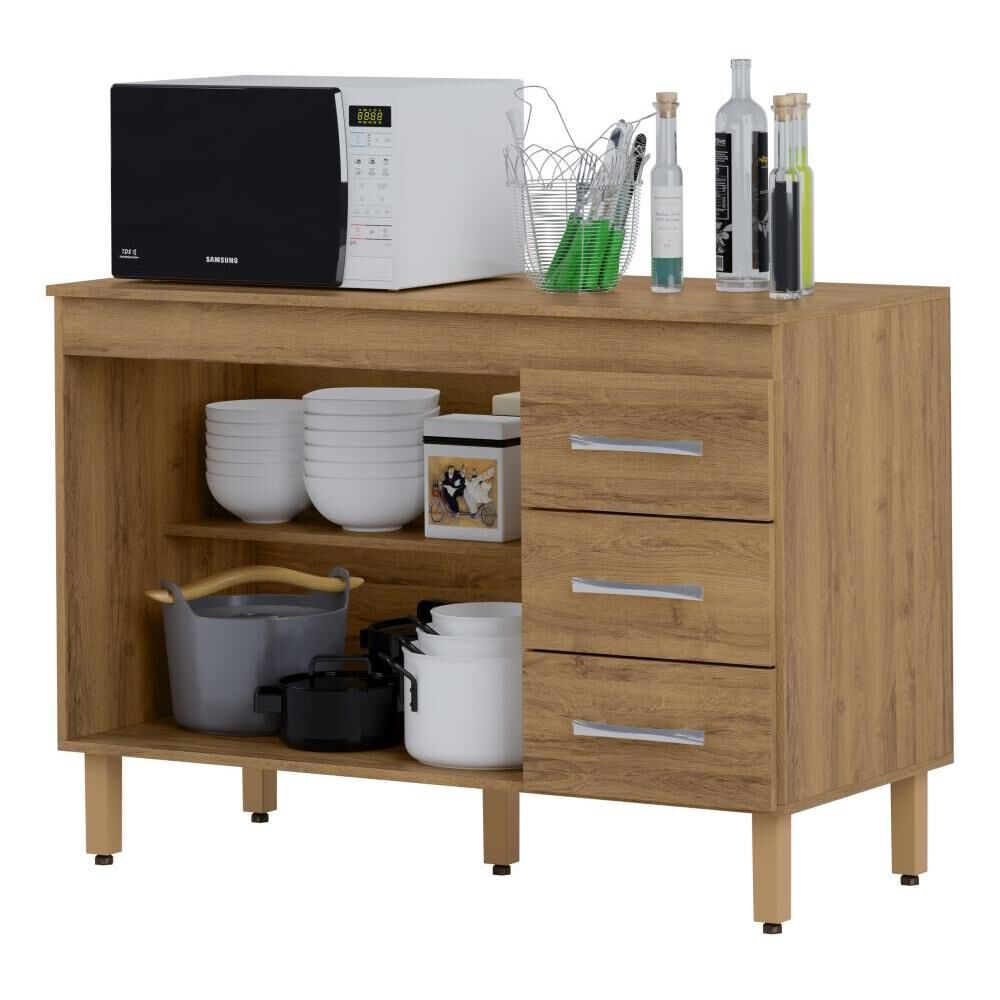 Mueble De Cocina Home Mobili Kalahari/montana / 2 Puertas / 3 Cajones image number 1.0