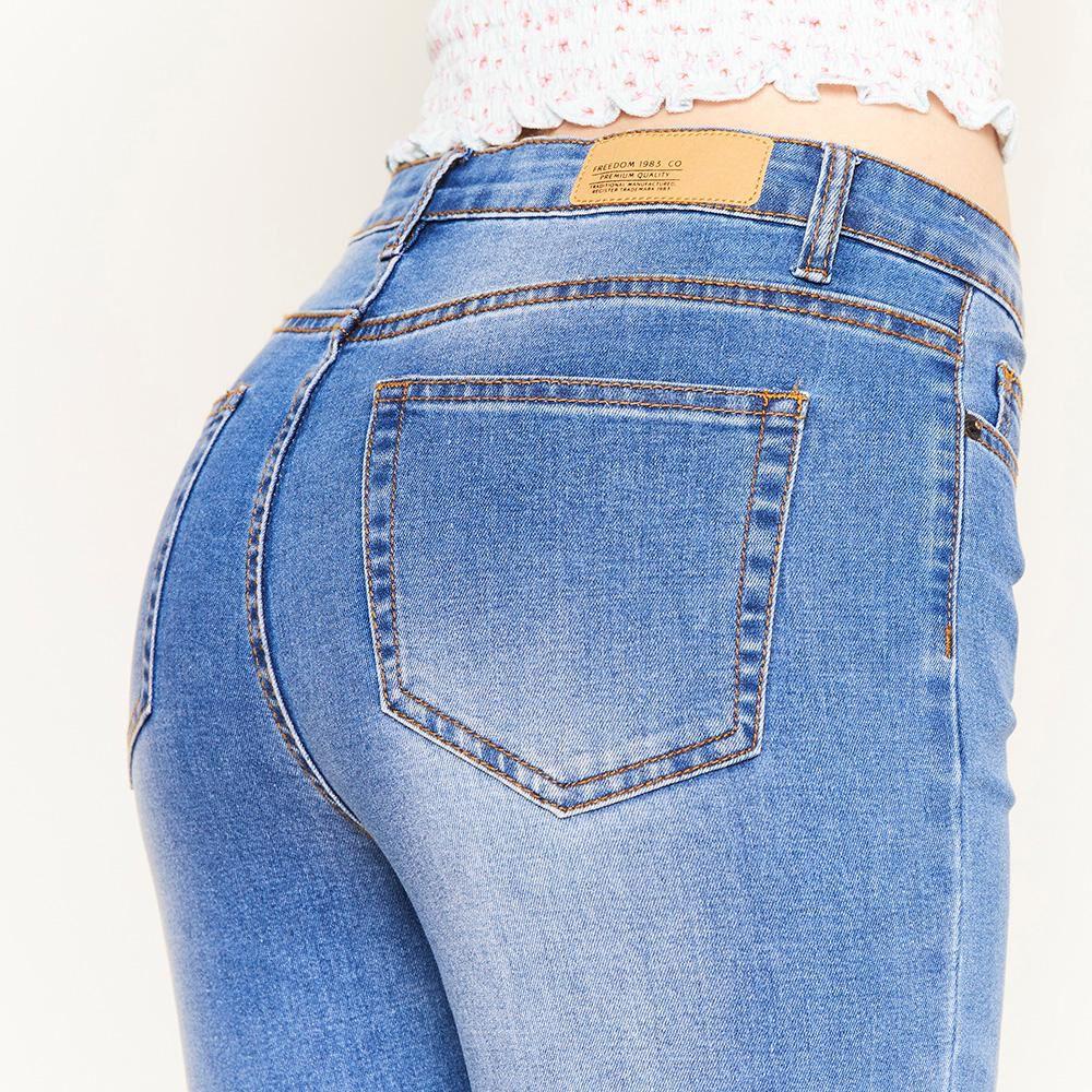 Jeans Rotura Tiro Alto Super Skinny Mujer Freedom image number 3.0