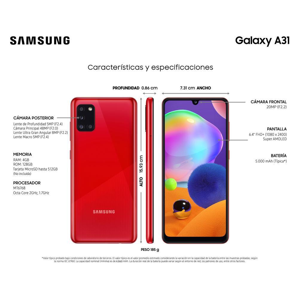 Smartphone Samsung Galaxy A31 128 Gb - Liberado image number 3.0
