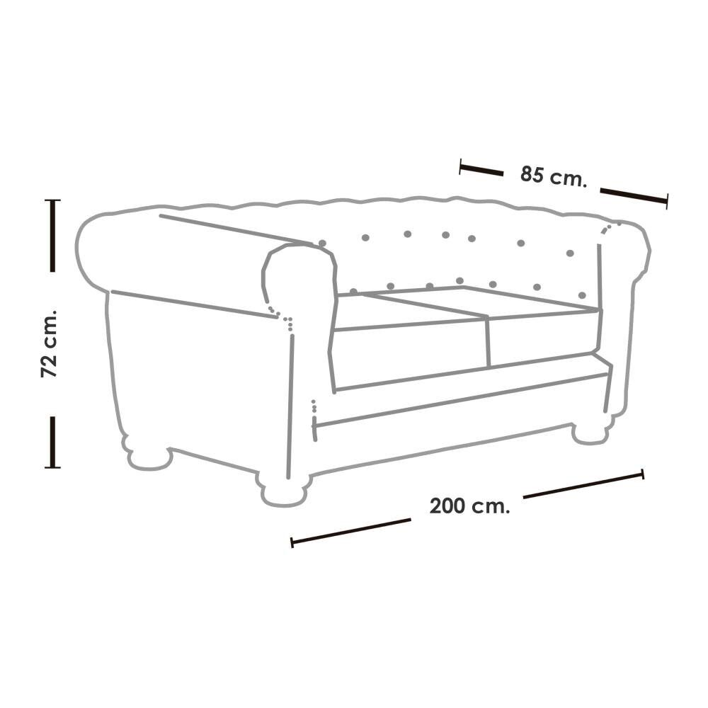 Sofa Mobel Home 3C Cuero / 3 Cuerpos image number 5.0