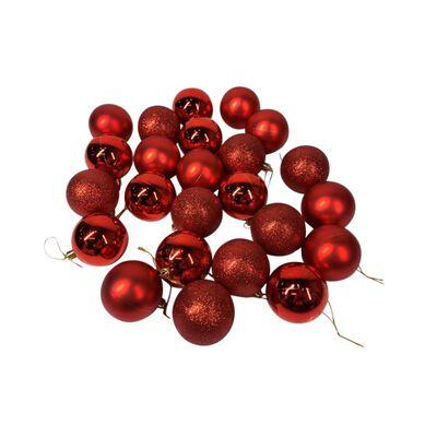 Esferas Casaideal Rojo 24 Piezas