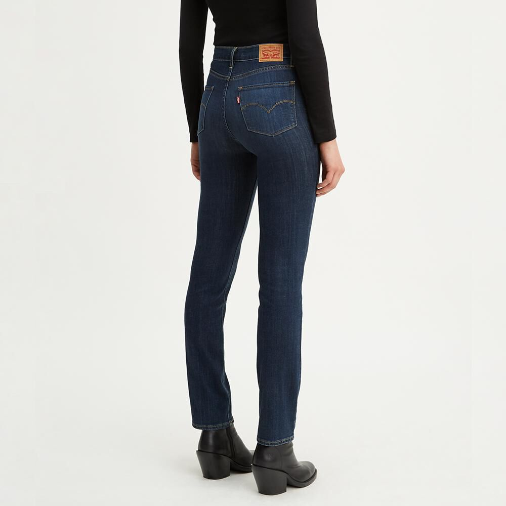 Jeans Mujer Straight Fit Tiro Alto Levi's 724 image number 2.0