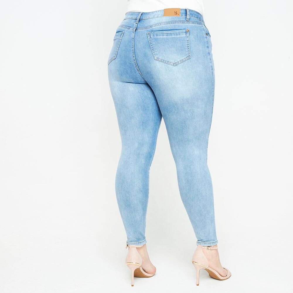 Jeans Tiro Medio Skinny Fit Mujer Sexy Large image number 2.0