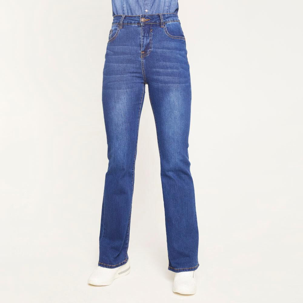 Jeans Tiro Medio Flare Mujer Geeps image number 0.0