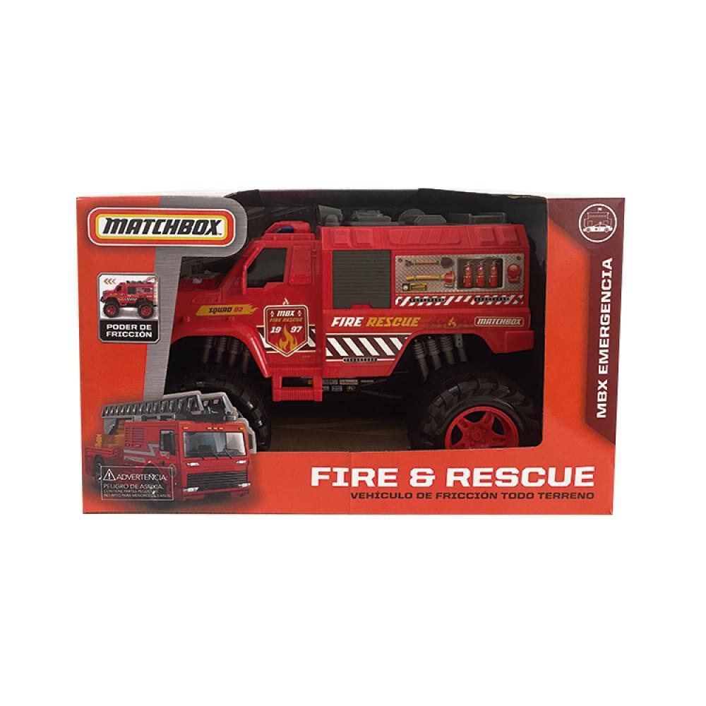 Auto De Juguete Match Box Fire & Rescue image number 2.0