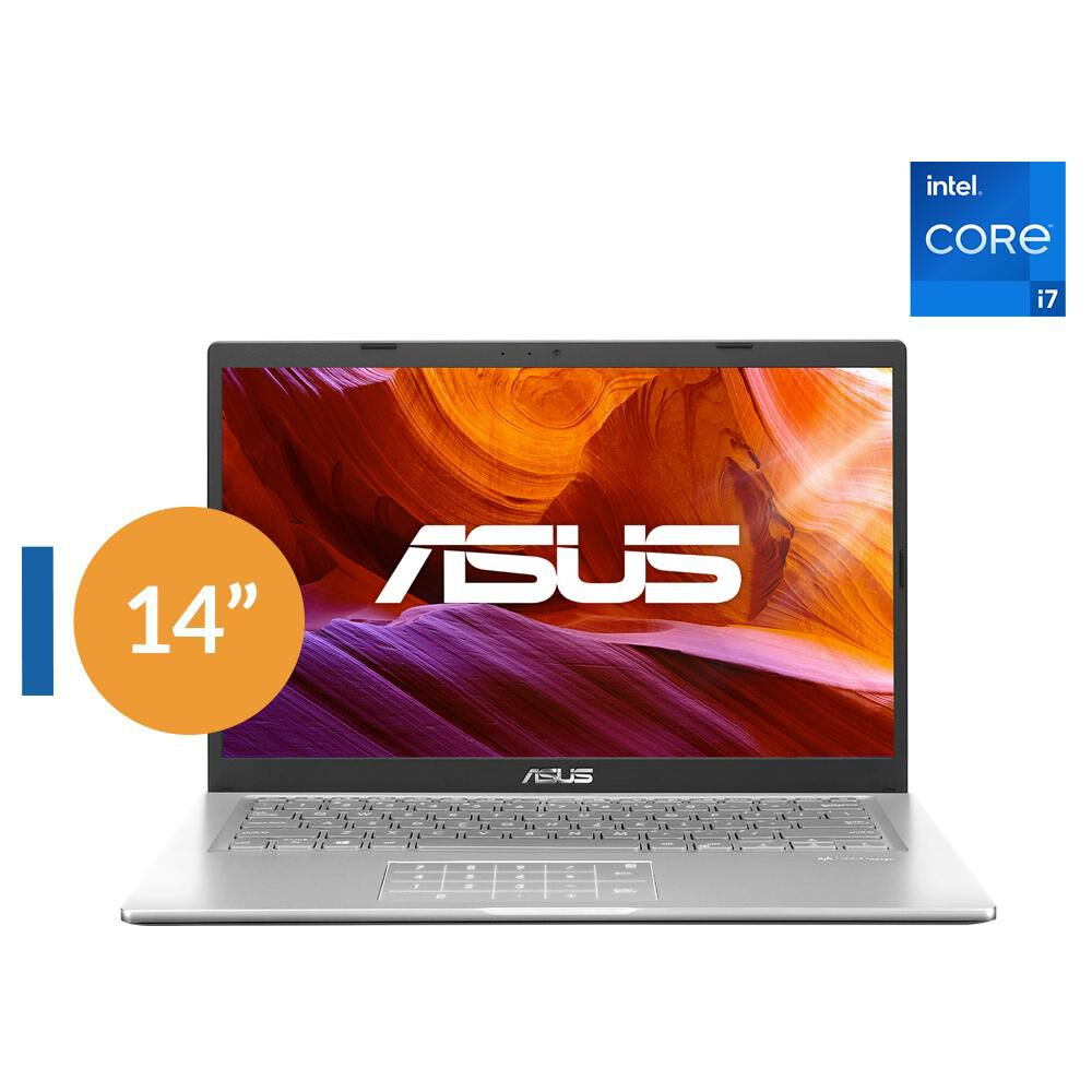 "Notebook Asus X415ea-ek098t / Transparent Silver / Intel Core I7 11va Generación 1165G7 2.8GHz / 8 Gb Ram / Intel Uhd Graphics / 512 Gb Ssd / 14"" Full HD image number 0.0"