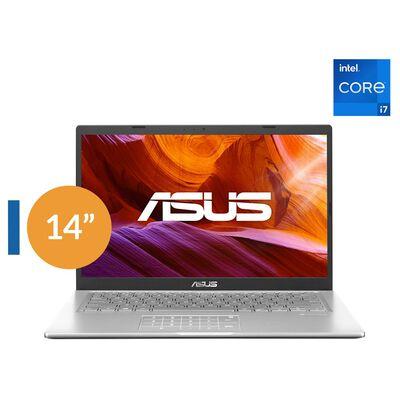 """Notebook Asus X415ea-ek098t / Transparent Silver / Intel Core I7 11va Generación 1165G7 2.8GHz / 8 Gb Ram / Intel Uhd Graphics / 512 Gb Ssd / 14"""" Full HD"""
