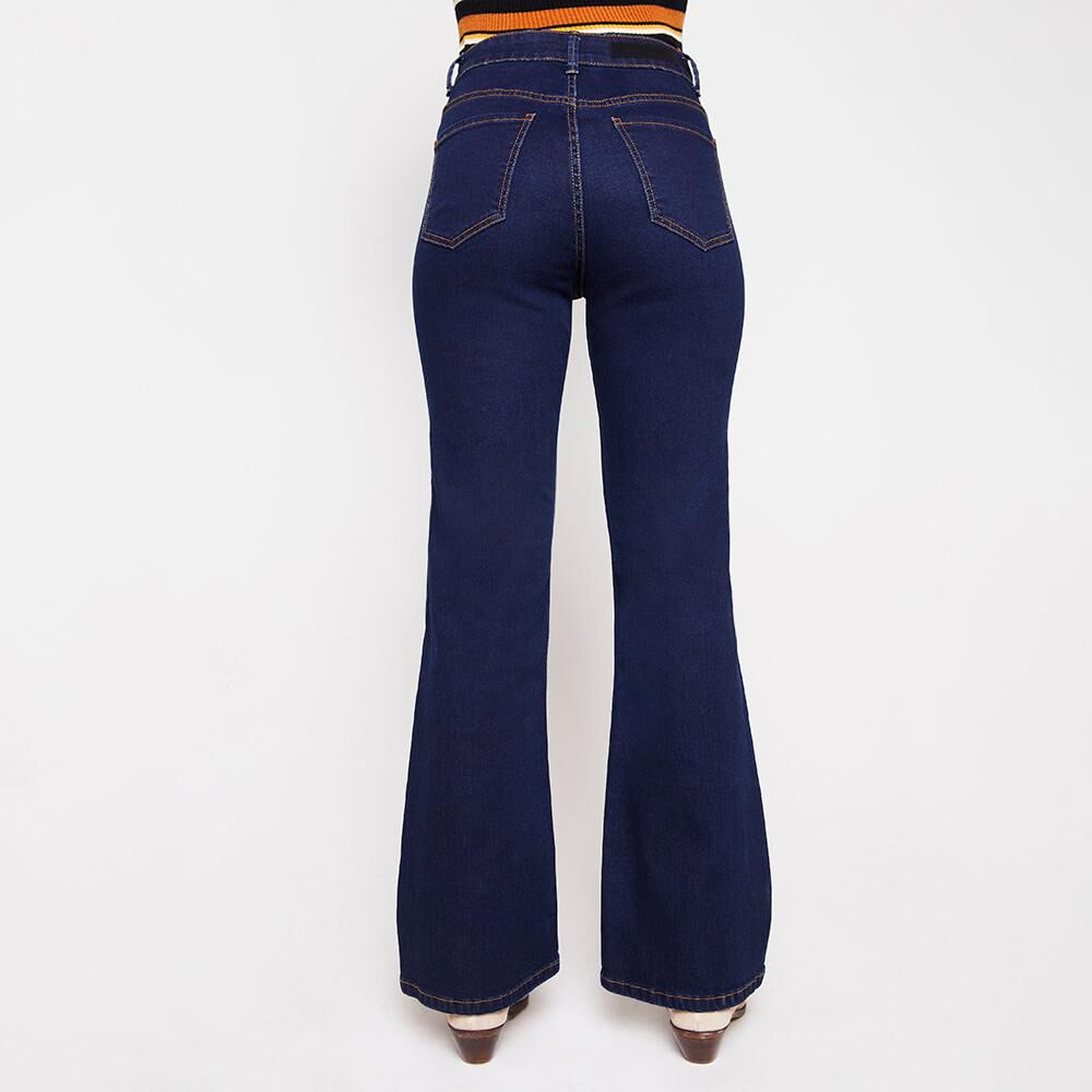 Jeans Mujer Tiro Alto Flare Kimera image number 2.0