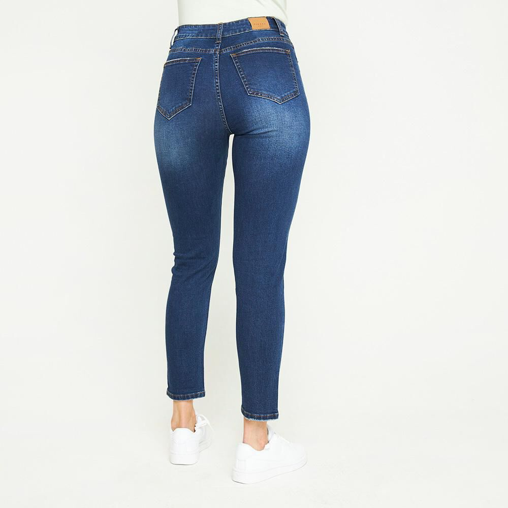 Jeans Lavado Tiro Medio Skinny Mujer Kimera image number 2.0