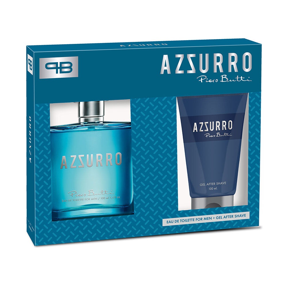 Perfume Hombre Piero Butty Azzurro / 100 Ml + Gel After Shave / 100 Ml image number 0.0