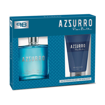 Perfume Hombre Piero Butty Azzurro / 100 Ml + Gel After Shave / 100 Ml